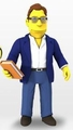 "Stephen King (The Simpsons 25th Anniversary) 5"" Action Figure Series 3 NECA"