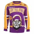 Teddy Bridgewater #5 (Minnesota Vikings) NFL 2015 Player Ugly Sweater