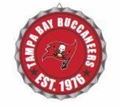 Tampa Bay Buccaneers NFL Wall Decor Bottlecap Collection by Forever Collectibles