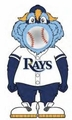 Tampa Bay Rays MLB Squeeze Popper Mascot