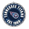 Tennessee Titans NFL Wall Decor Bottlecap Collection by Forever Collectibles
