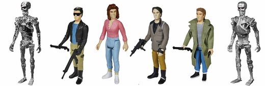 Terminator Set Of 6 Reaction 3 3 4 Inch Retro Action Figure
