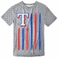 Texas Rangers Big Logo Flag Tee by Forever Collectibles