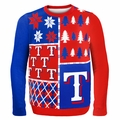 Texas Rangers MLB Ugly Sweater BusyBlock