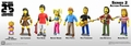 "The Simpsons 25th Anniversary 5"" Action Figures Series 2 Complete Set (8) NECA"