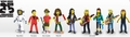 """The Simpsons 25th Anniversary 5"""" Action Figures Series 4 Complete Set (9) NECA"""
