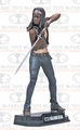 """Michonne (The Walking Dead TV) 7"""" Figure McFarlane Collector Edition Color Tops Series - Red"""