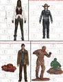 The Walking Dead (TV) Series 7 Complete Set (4) McFarlane