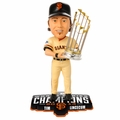 Tim Lincecum (San Francisco Giants) 2014 World Series Champs Trophy Bobble Head Forever