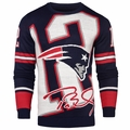 Tom Brady #12 (New England Patriots) NFL 2016 Loud Player Sweater By Forever Collectibles