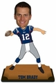 "Tom Brady (New England Patriots) 2015 NFL Real Jersey 10"" Bobble Heads Forever Collectibles"