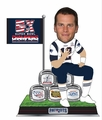Tom Brady (New England Patriots) Ring Pyramid Bobblehead by Forever Collectibles