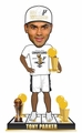 Tony Parker (San Antonio Spurs) 4X NBA Champ (2014 T-Shirt/Hat) Finals MVP Trophy Bobble Head Exclusive #/300