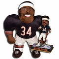 "Walter Payton (Chicago Bears) NFL Legends Bobble Head and 24"" NFL Plush Studds by Forever Collectibles Combo"
