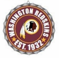 Washington Redskins NFL Wall Decor Bottlecap Collection by Forever Collectibles