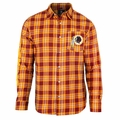Washington Redskins Wordmark Mens Long Sleeve Flannel Shirt