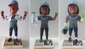 Wilson/Lynch/Sherman (Seattle Seahawks) Super Bowl XLVIII Champ T-Shirt/Hat Exclusive Bobbleheads #/500 Combo (3)