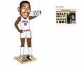 Wilt Chamberlain (Philadelphia Warriors) 100 Point Game Newspaper Base NBA Legends Bobble Head