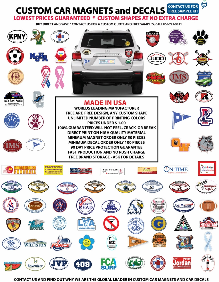 Custom Car Decals Custom Car Magnets Steelberry - Custom car magnets for fundraising