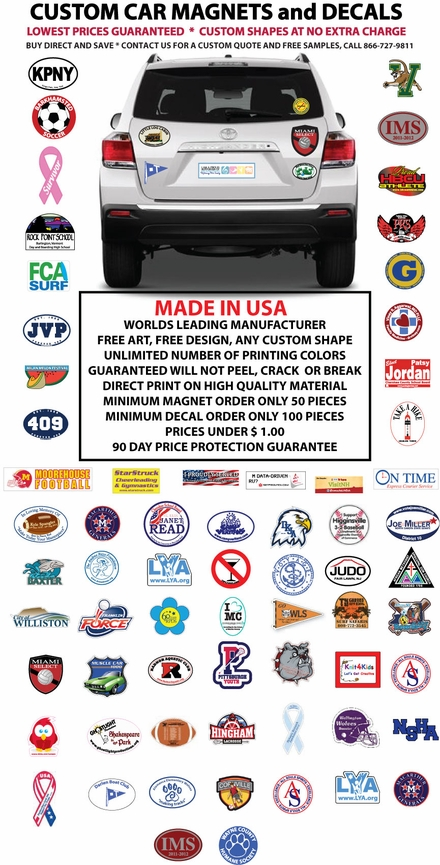 Custom Car Magnets And Decals - Custom car magnets for fundraising