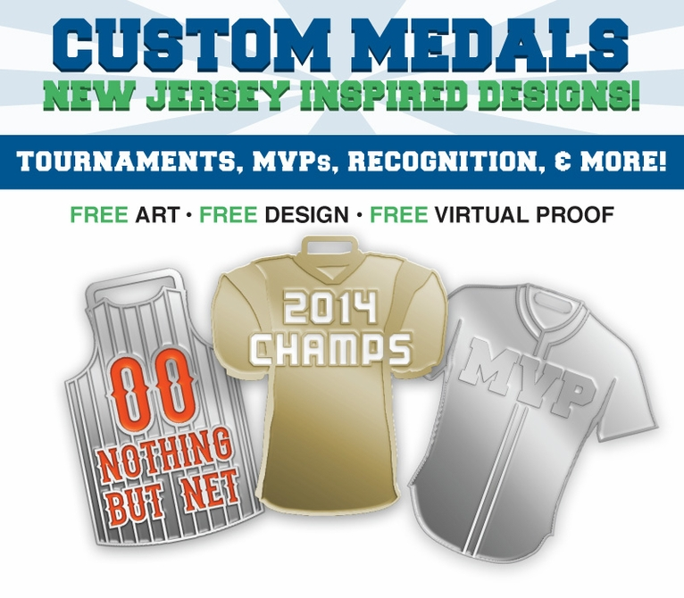 Shaped Jersey Medals