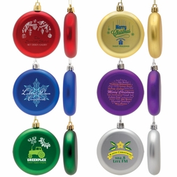 Round Shatter Resistant Holiday Ornament