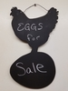 Chalkboard Hen with Egg Wall Hanging