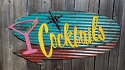 Cocktails Mid-Century Retro Sign