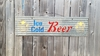 Corrugated Metal Ice Cold Beer sandwich sign