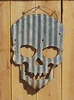 Large Corrugated Metal Skull