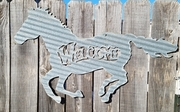 Corrugated Welcome Running Horse
