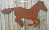 Extra Large Rusted Metal Running Horse Silhouette Sign