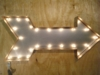 Industrial Style Arrow Marquee