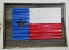 Painted Corrugated Metal Texas Flag