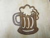 Rusted Metal Beer Mug silhouette