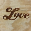 Rusted Metal Love Sign