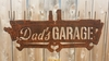 Rusted Rustic Metal Dads Garage Tool Sign