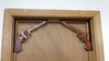 Set of 2 Pistols Rusty Shelf Brackets