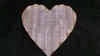 Large Corrugated Metal Heart