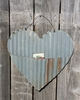Up-cycled Corrugated Metal Heart with Pocket