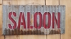 Up-cycled Corrugated Metal Saloon Sign