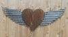 Up-cycled Corrugated Metal Wings with Heart