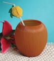 18oz Coconut Shaped Plastic Cup 12ct