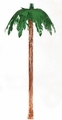 9' Green Foil Palm Tree Hanging Decoration 6ct