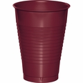 Burgundy Plastic Cups 12 oz. Solid 240ct