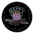 "Chalk Birthday 9"" Dinner Plates 96ct"