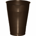 Chocolate Brown Plastic Cups 12 oz. Solid 240ct