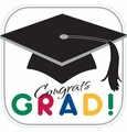 "Graduation Stripes 21"" Cutout 12ct"
