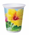 Heavenly Hibiscus 16oz Plastic Cups 96ct