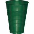 Hunter Green Plastic Cups 12 oz. Solid 240ct